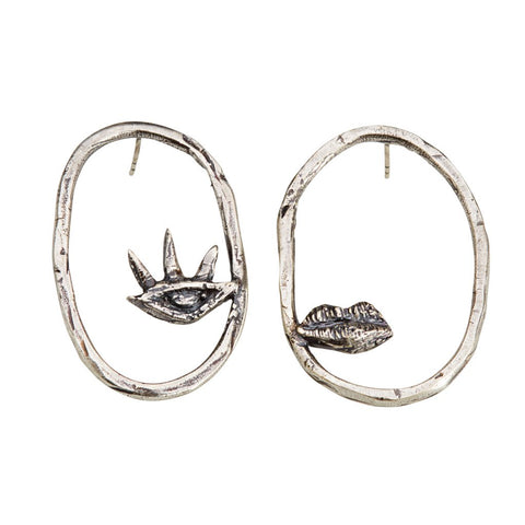 Eye and Mouth Earrings