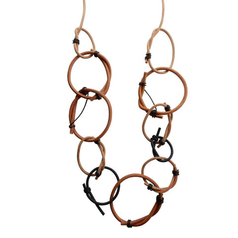 Natural Leather Loop Necklace