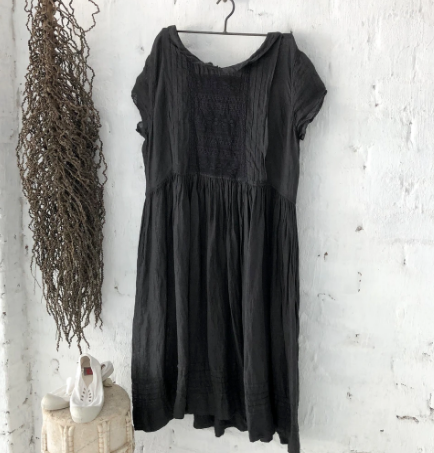 Alice Linen Dress Black - Short