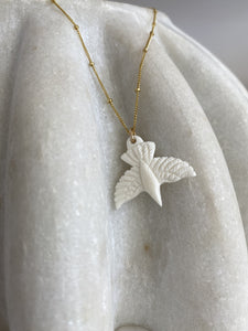 Carved Bird Necklace