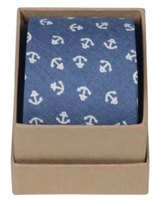 Ortc Man Tie - Chambray Anchor
