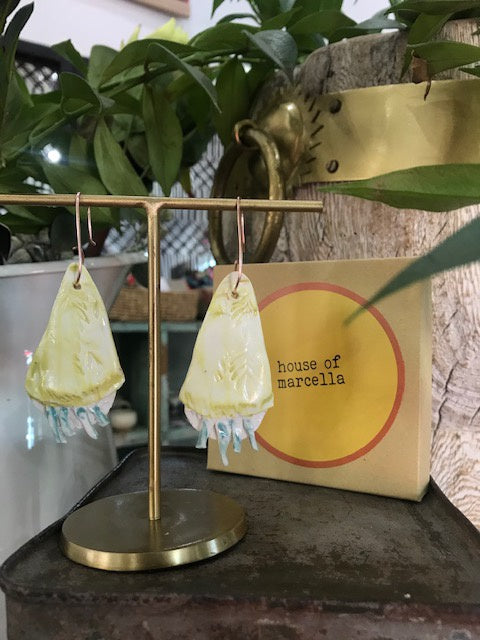 Large Porcelain Earrings - Lemon Drops-House of Marcella-Bristle by Melissa Simmonds