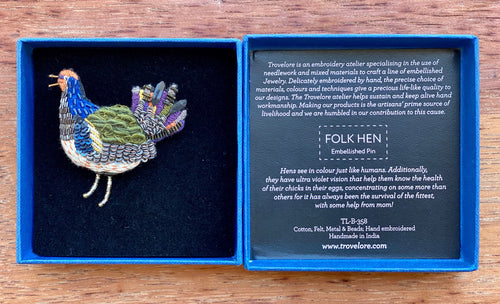 Trovelore Folk Hen Brooch