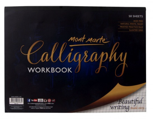 Calligraphy Workbook 22.9x30.5cm 50 Sheet-Mont Marte-Bristle by Melissa Simmonds
