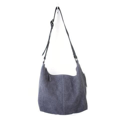 Winter Jute Slouchy Bag Dark Grey