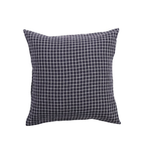 European Pillowcase Set - French Navy Grid-Society of Wanderers-Bristle by Melissa Simmonds