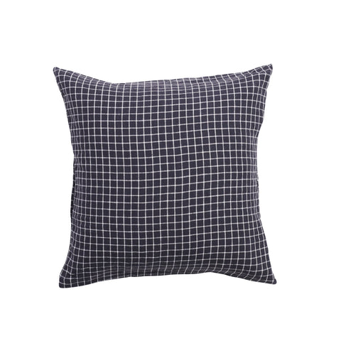 European Pillowcase Set - French Navy Grid