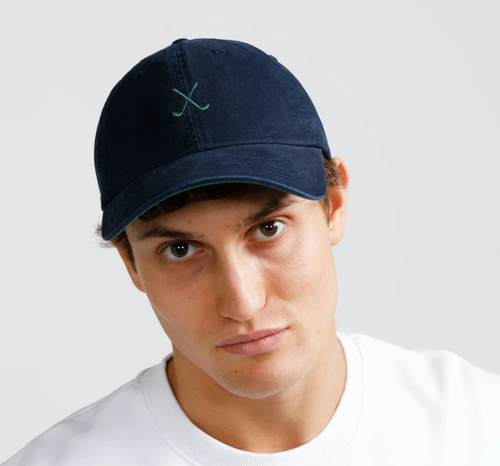 Ortc Man Clubs Cap - Navy and Green-Ortc Man-Bristle by Melissa Simmonds