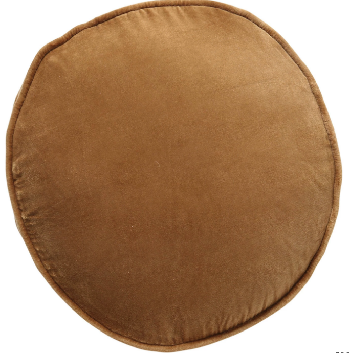 Scorched Almond Velvet Pea Cushion