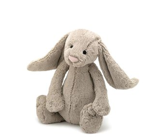 Bashful Bunny Large - Beige-Independence Studios Pty Ltd-Bristle by Melissa Simmonds