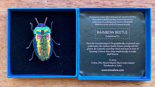 Trovelore Rainbow Beetle Brooch
