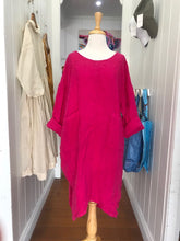 Load image into Gallery viewer, Seline Linen Dress - Fuchsia