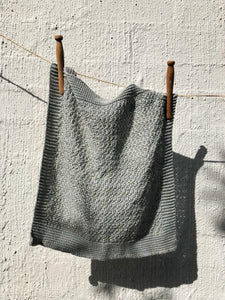 Stella Knitted Linen Facecloth