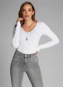 Bamboo V-Neck Long Sleeve Bodysuit