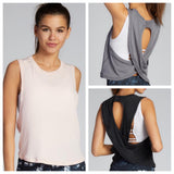 Aloe Crop Cross-Back Top