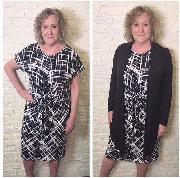 Patterned T-shirt Dress with Pockets