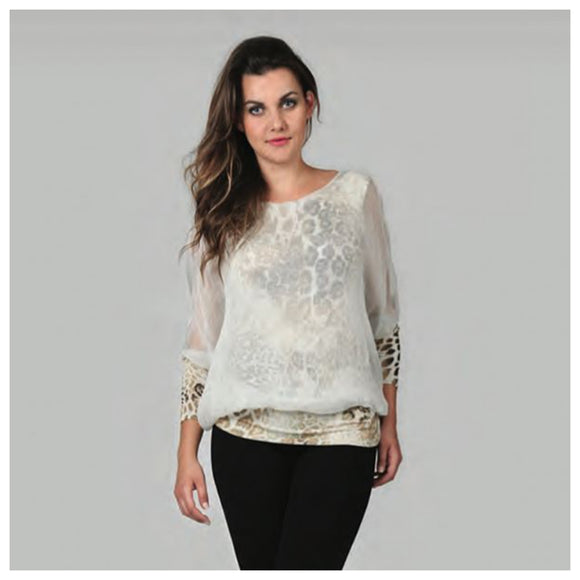 Silk Animal Print Top