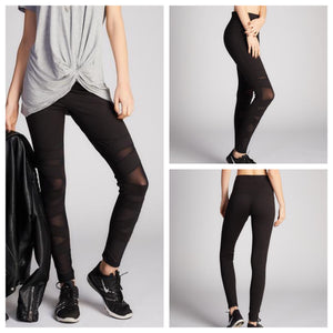 Mesh Patch Athleisure Leggings