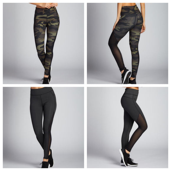 Reversible Camo/Heather Athleisure Leggings