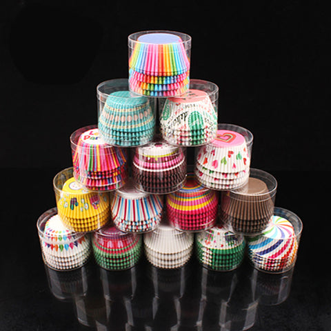 5 styles 100 pcs cupcake liners