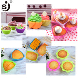 12pcs Silicone  Cupcake Mold Muffin Baking