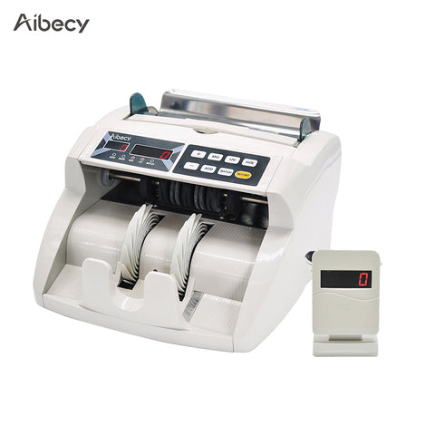 Desktop Multi-Currency Automatic Cash Banknote Money Bill Counter Counting Machine with UV MG Counterfeit Detector