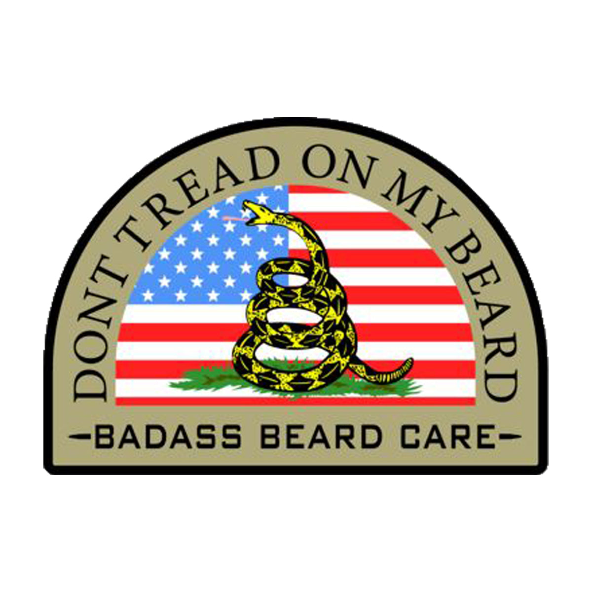 Don't Tread On My Beard Sticker
