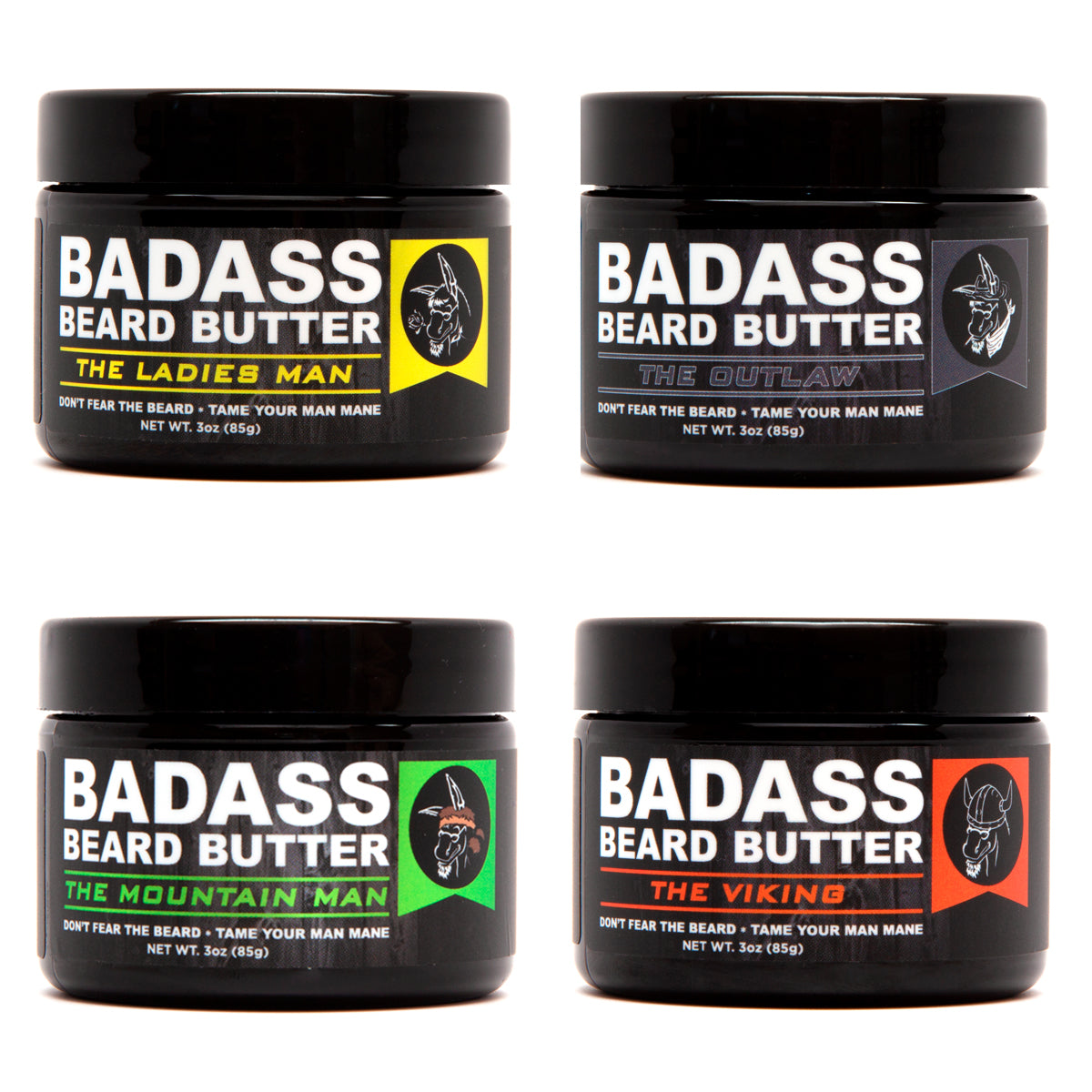 beard butter, badass beard care, 4 pack