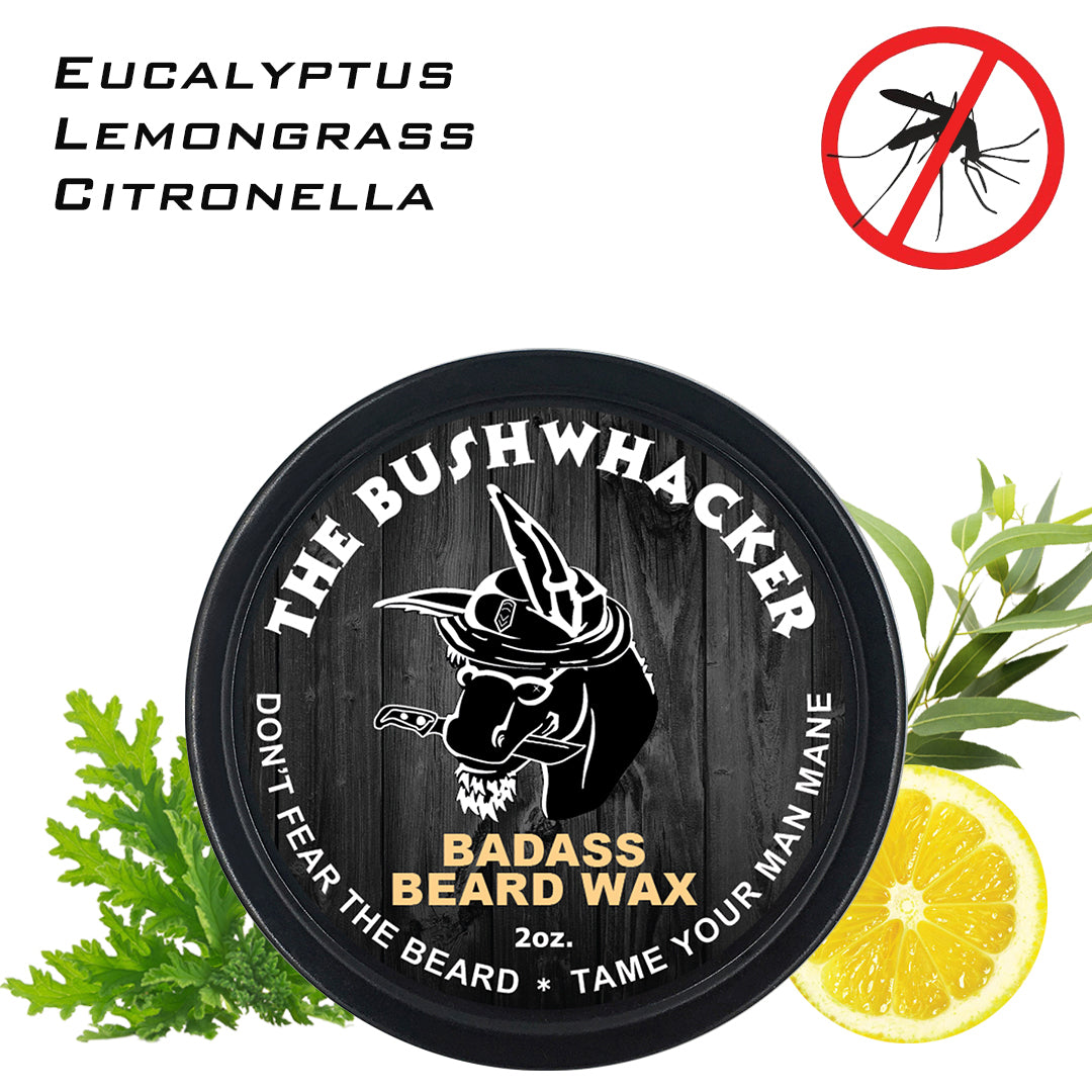 beard wax, badass beard care, the bushwhacker