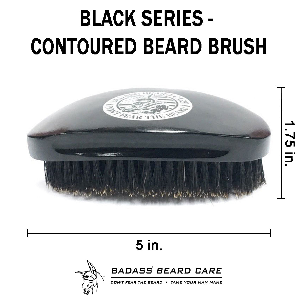 Black Series - Contoured Beard Brush
