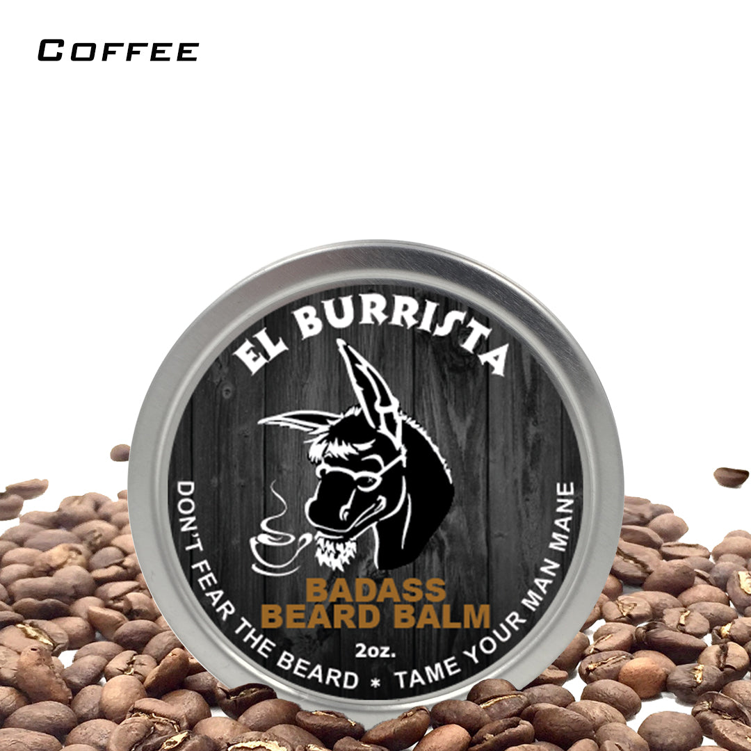 beard balm, badass beard care, el burrista