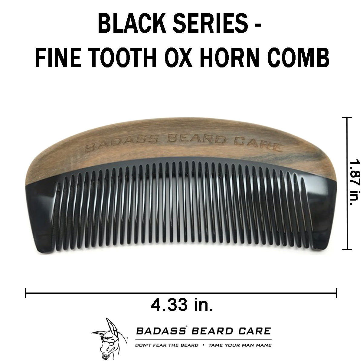 Black Series - Fine Tooth Ox Horn Comb