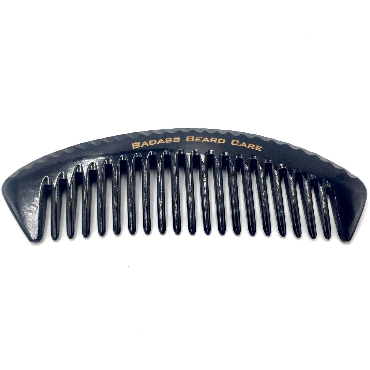 wide tooth oxhorn comb, badass beard care