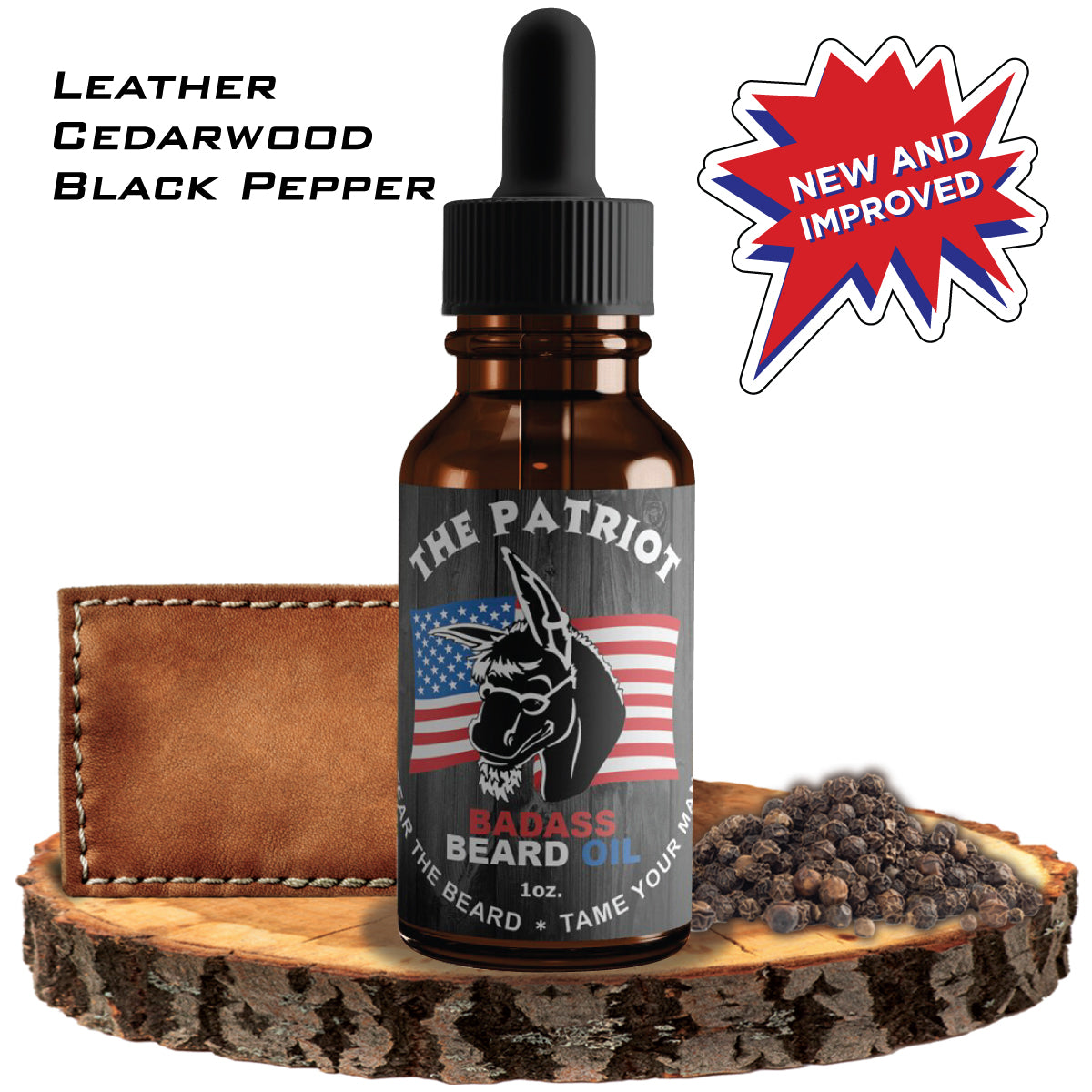The Patriot Badass Beard Oil