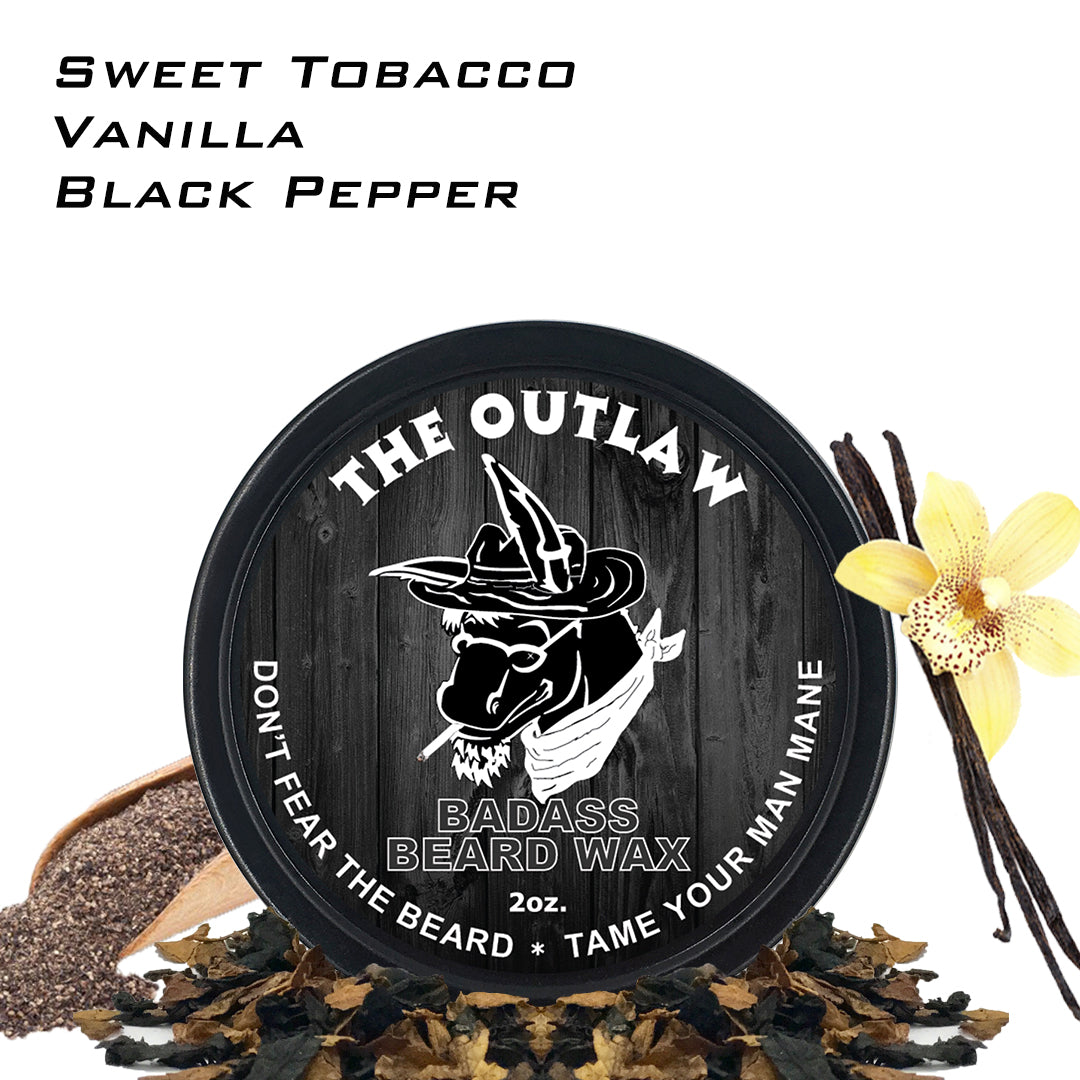 beard wax, badass beard care, the outlaw