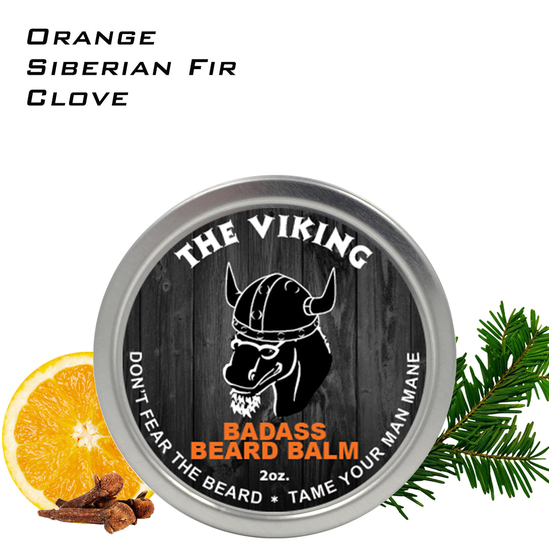 beard balm, badass beard care, the viking