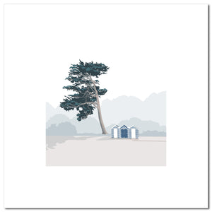 Beach Huts - Blue - Large