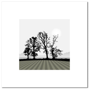 Ploughed Field - Grey - Large