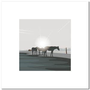 Polo Ponies - Grey - Large