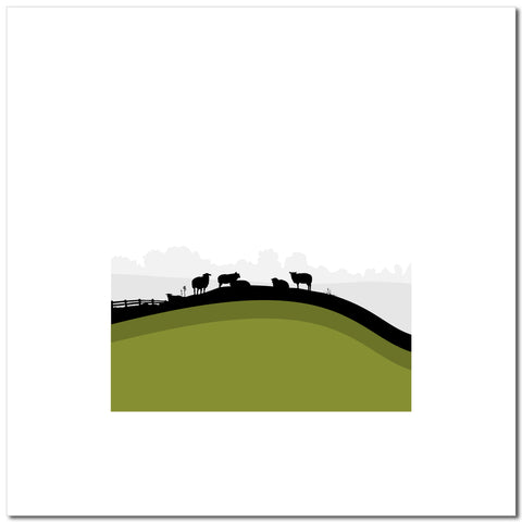 Sheep Hills 3 - Green - Large