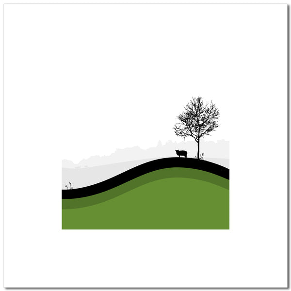 Sheep Hills 4 - Green - Large