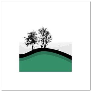 Sheep Hills 5 - Green - Large
