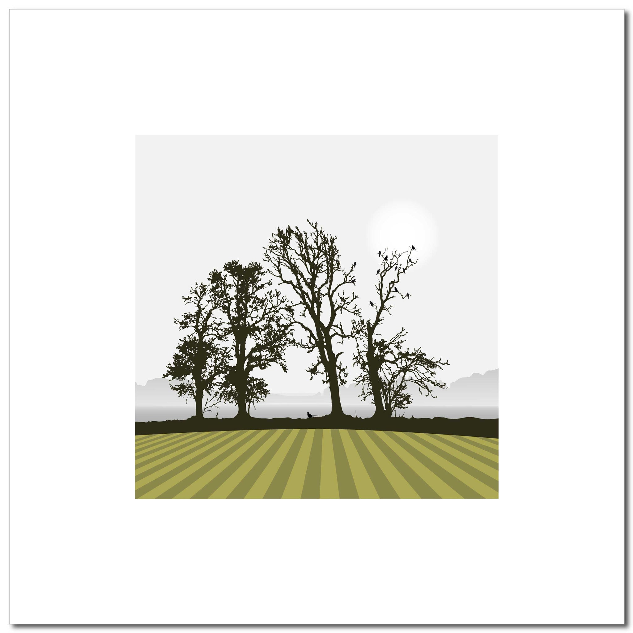Ploughed Field - Green - Large