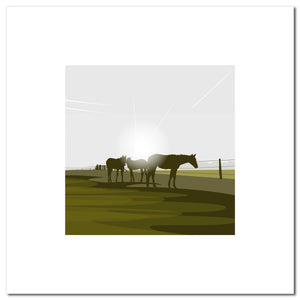 Polo Ponies - Green - Large