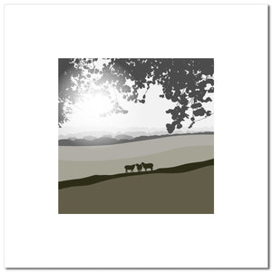 Sheep in the Meadow - Grey - Large