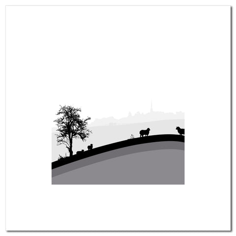 Sheep Hills 1 - Grey - Large