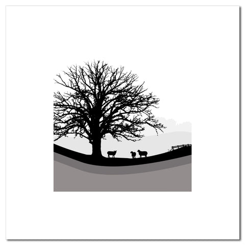 Sheep Hills 2 - Grey - Large