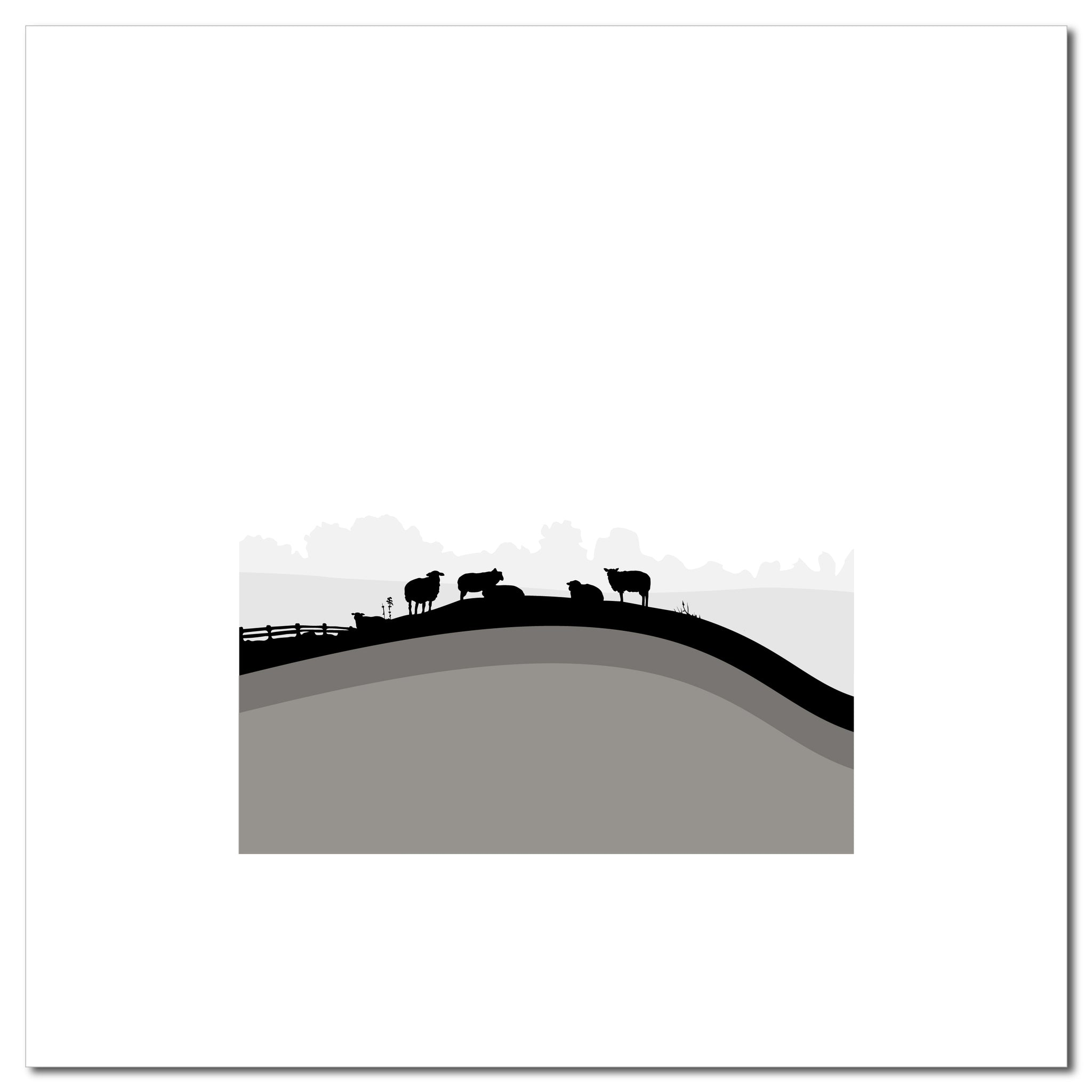 Sheep Hills 3 - Grey - Large