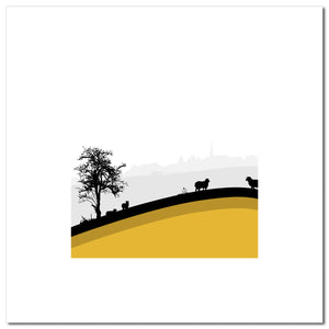 Sheep Hills 1 - Ochre - Large