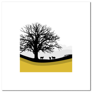 Sheep Hills 2 - Ochre - Large